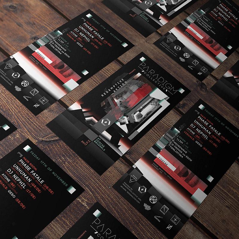 Flyer Design Paradigm Collective by Geso