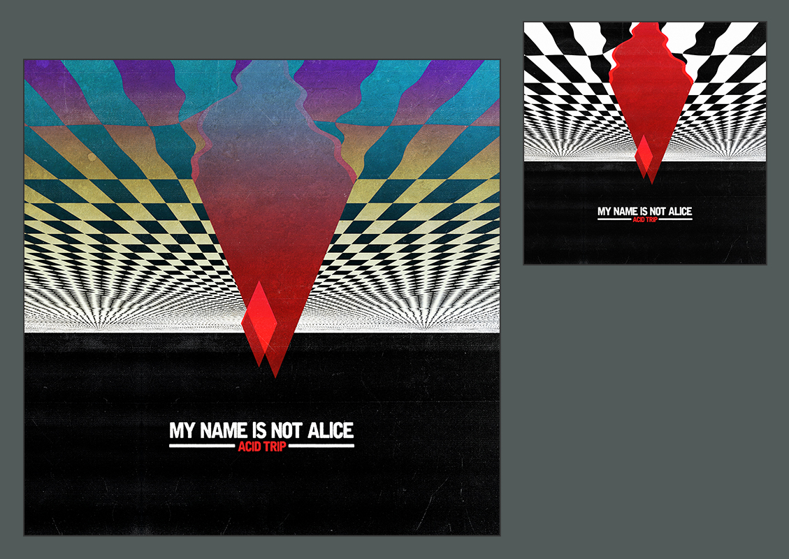 Art direction for music band My Name Is Not Alice by Geso