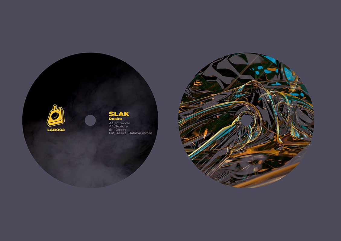 LAB002 Slak Desire EP cover artwork by Geso